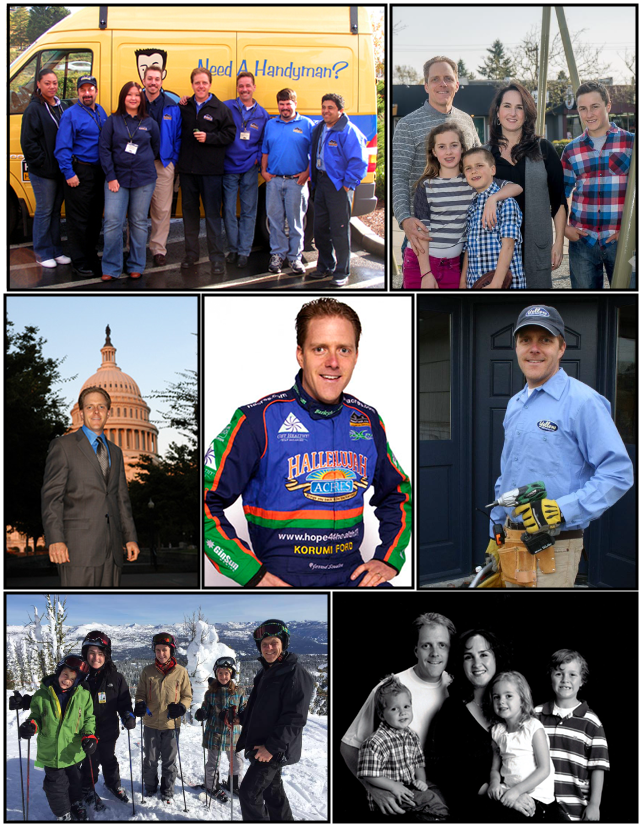 HomeTask's Yellow Van Handyman Team, White House 2007, Sessler Family, Washington DC Capital 2006, NASCAR 2006, Regional racing photo 2005, Subway with Subway Jared 2008 - Las Vegas, Sessler Family photo